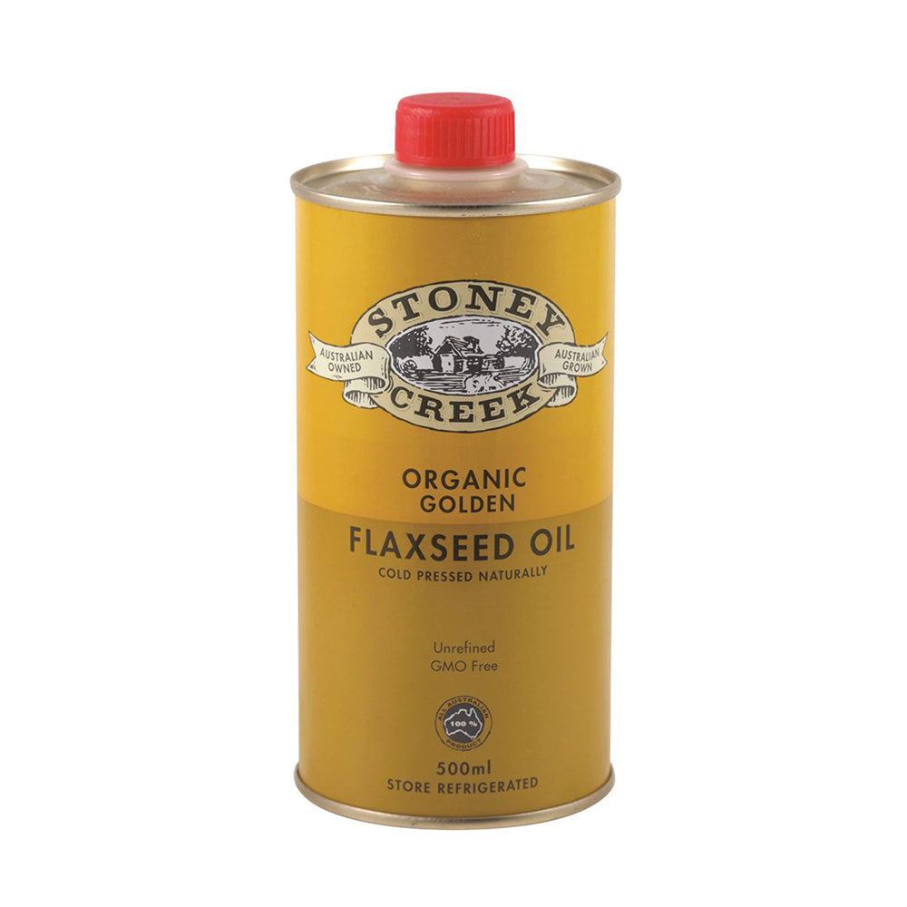Stoney Creek Organic Flaxseed Oil Golden 500ml