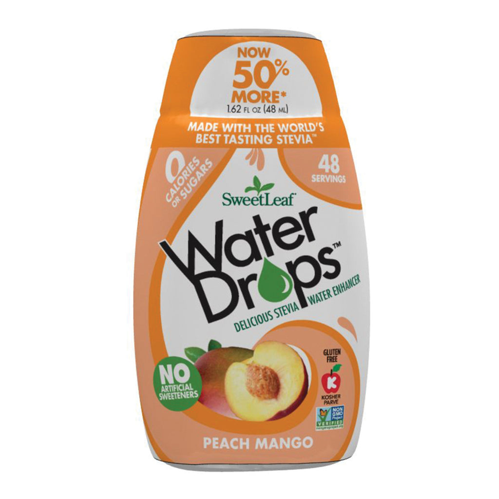 Sweet Leaf Stevia Water Drops Peach Mango 48ml