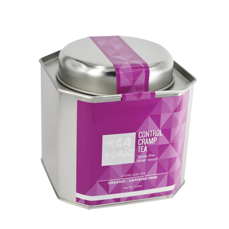 Tea Tonic Organic Control Cramp Tea Tin 150g