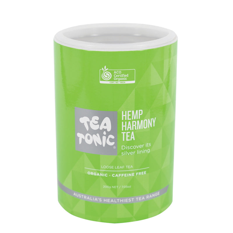 Tea Tonic Organic Hemp Harmony Tea Tube 200g