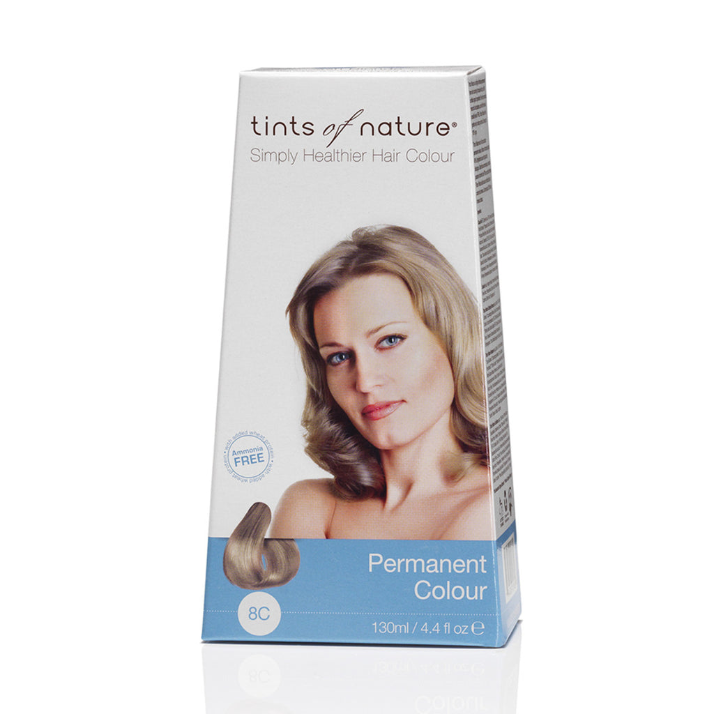 Tints of Nature Permanent Hair Colour Ash Blonde 8C