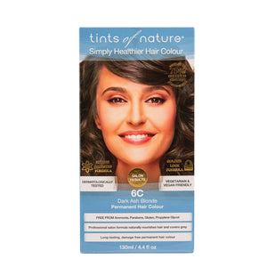 Tints of Nature Permanent Hair Colour Dark Ash Blonde 6C