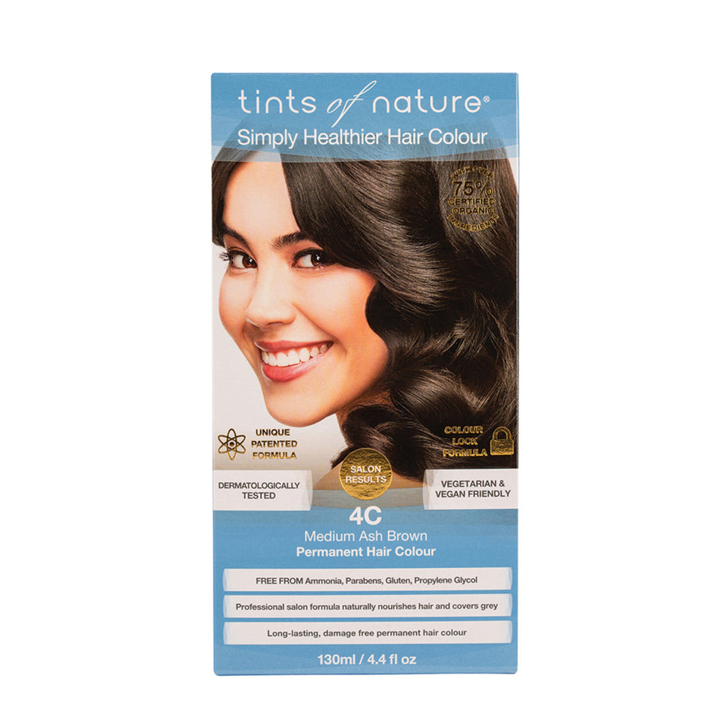 Tints of Nature Permanent Hair Colour Medium Ash Brown 4C