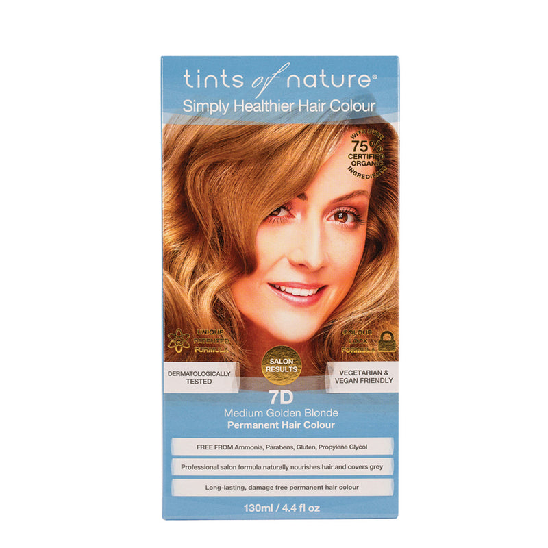 Tints of Nature Permanent Hair Colour Medium Golden Blonde 7D