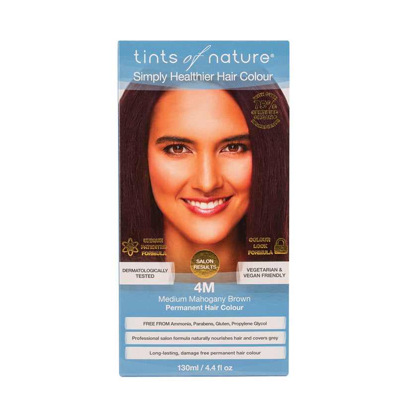 Tints of Nature Permanent Hair Colour Medium Mahogany Brown 4M