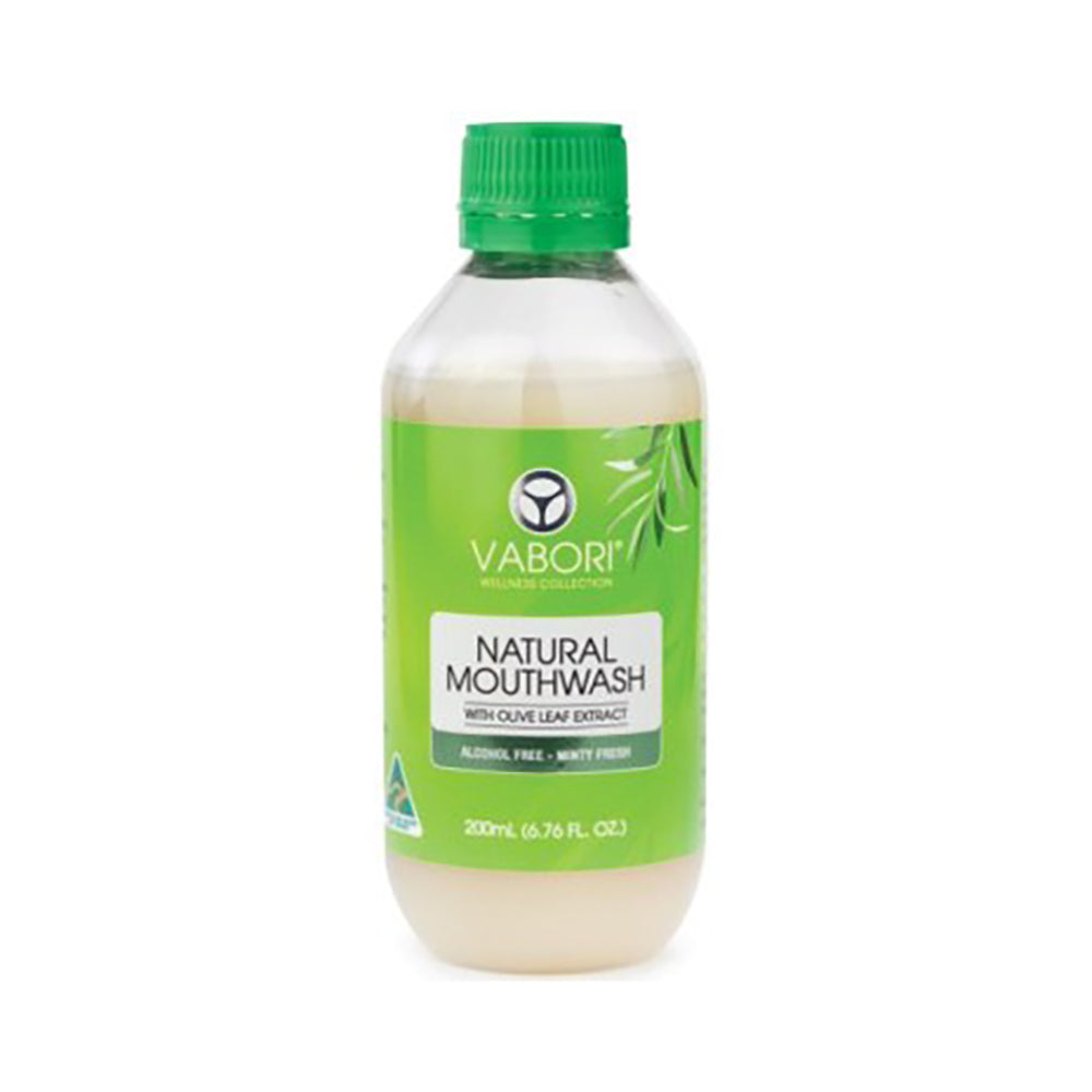 Vabori Natural Mouthwash with Olive Leaf Extract 200ml