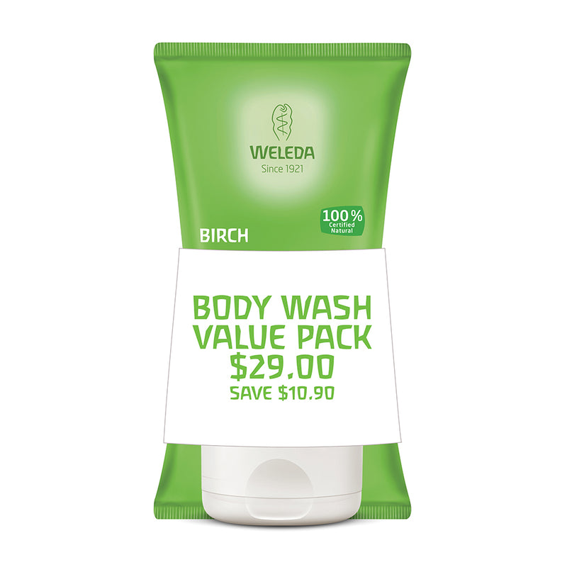 Weleda Duo Body Scrub Birch 150ml x 2 Pack