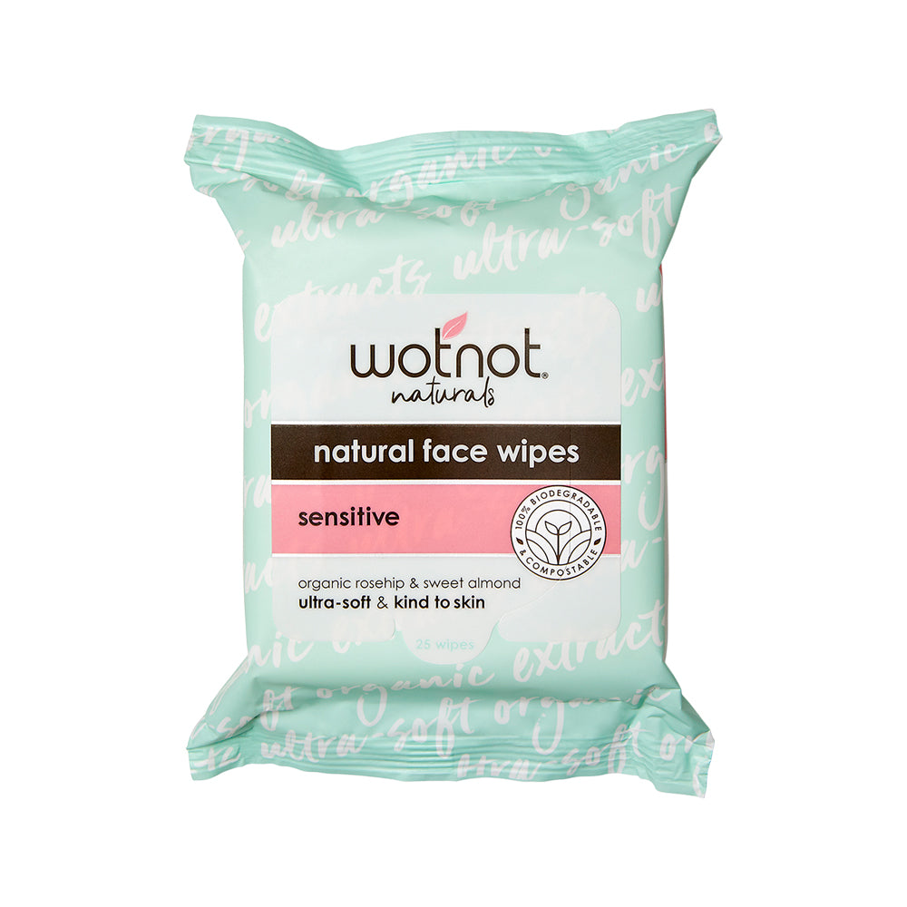 Wotnot Facial Wipes Sensitive (All Skin Types) x 25 Pack