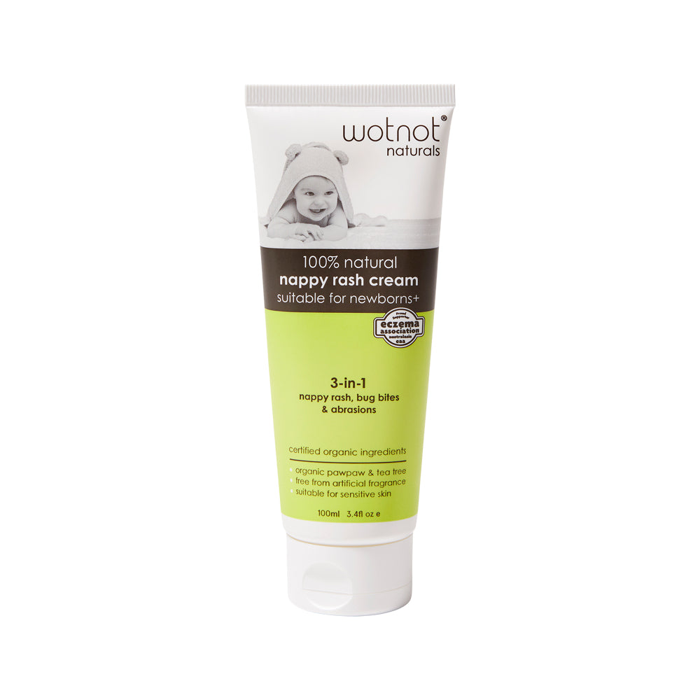 Wotnot 100% Natural Nappy Rash Cream (3-in-1) 100ml