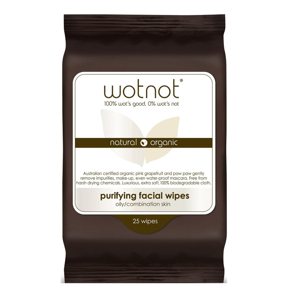 Wotnot Facial Wipes Purifying x 25 Soft Pack