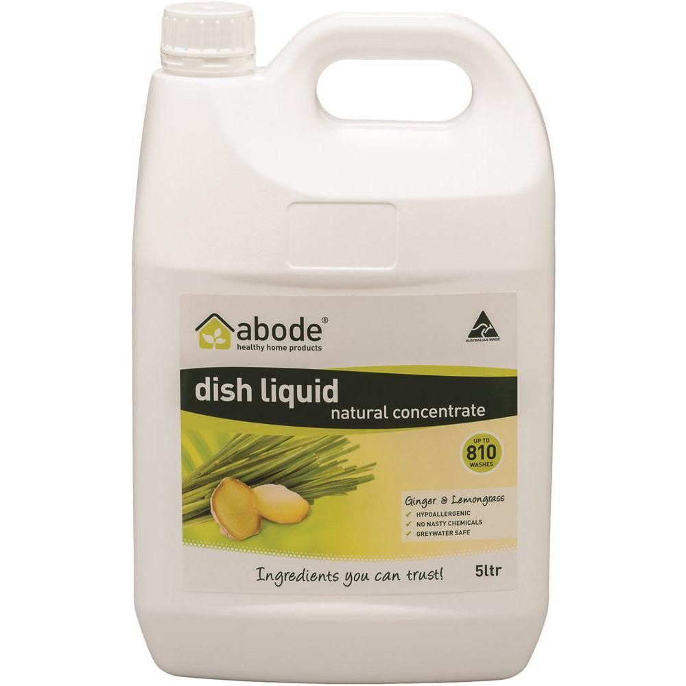 Abode Dishwashing Liquid Ginger and Lemongrass 5L