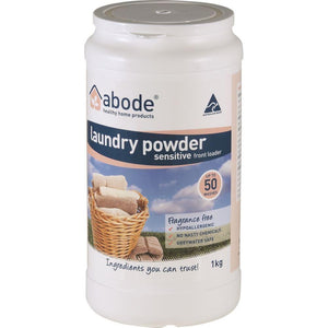 Abode Laundry Powder (Front Loader) Sensitive 1kg
