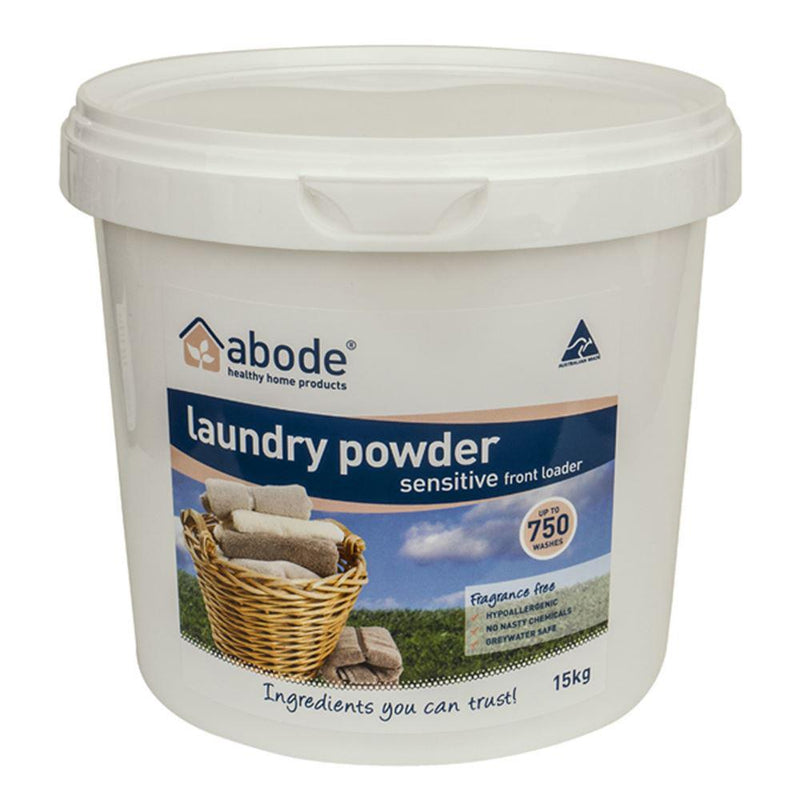 Abode Laundry Powder (Front Loader) Sensitive 5kg Bucket