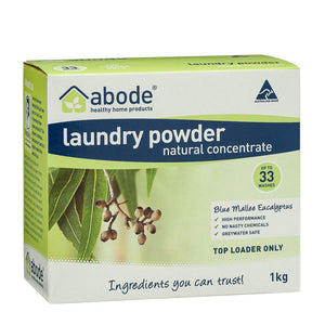 Abode Laundry Powder (Top Loader) Blue Mallee Eucalyptus 1kg