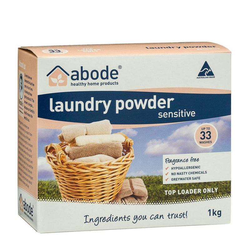 Abode Laundry Powder (Top Loader) Sensitive 1kg