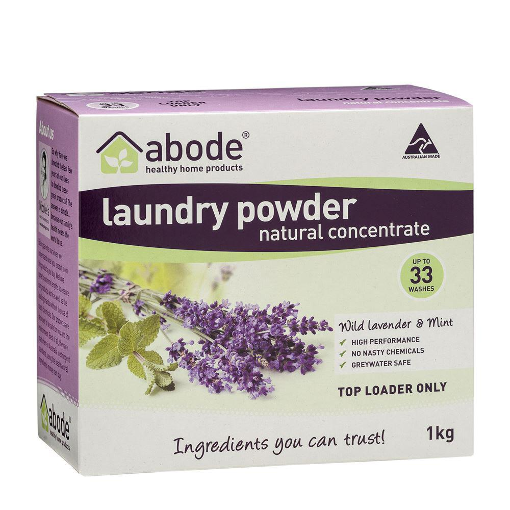 Abode Laundry Powder (Top Loader) Wild Lavender & Mint 1kg