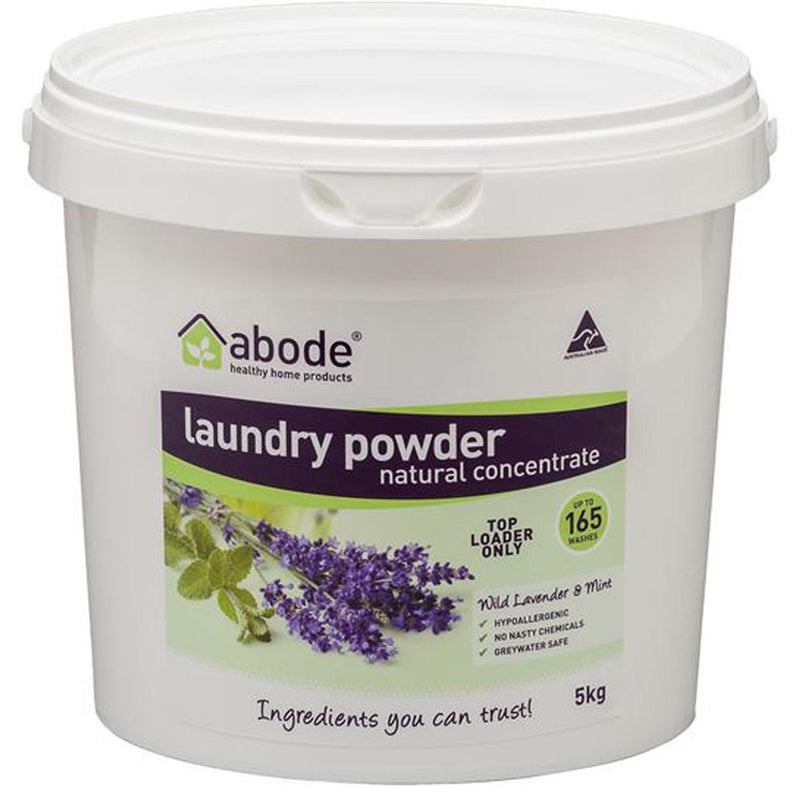 Abode Laundry Powder (Top Loader) Wild Lavender & Mint Bucket 5kg