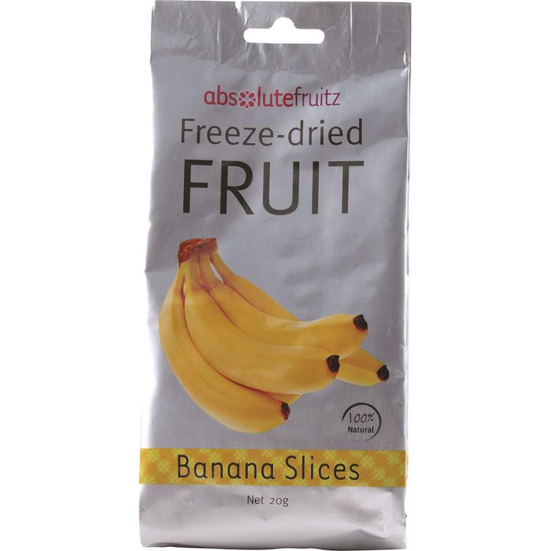 AbsoluteFruitz Freeze-Dried Banana Slices 20g