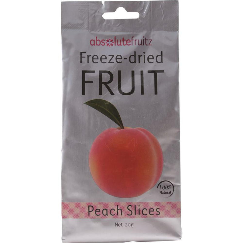 AbsoluteFruitz Freeze-Dried Peach Slices 20g