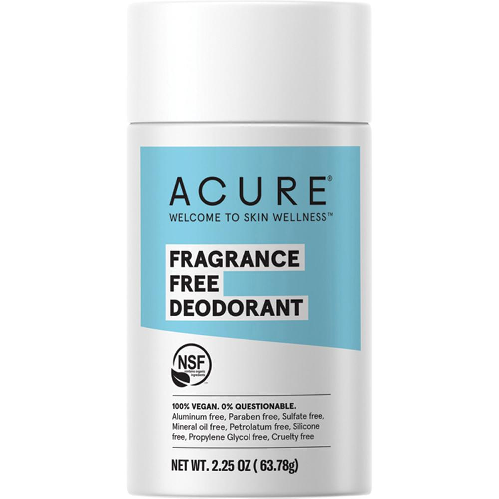 Acure Deodorant Stick Fragrance Free 63g