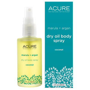 Acure Marula and Argan Dry Oil Spray 59ml Coconut
