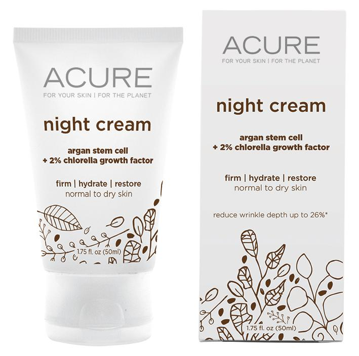 Acure Night Cream Gotu Kola and Chlorella 50ml