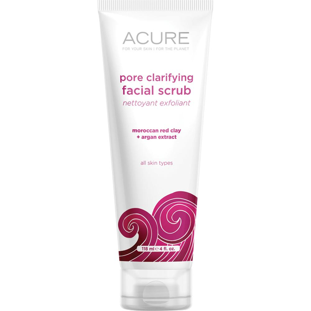 Acure Pore Clarifying Facial Scrub Moroccan Red Clay and Stem Cell 118ml