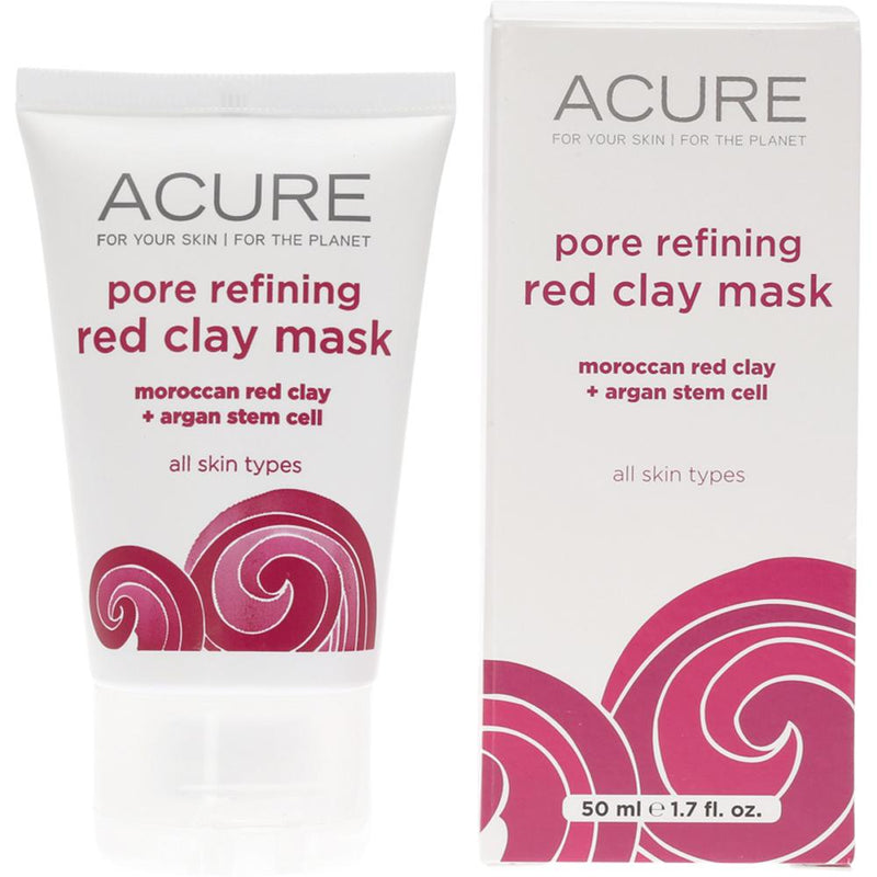 Acure Pore Refining Red Clay Mask Moroccan Red Clay and Stem Cell 50ml