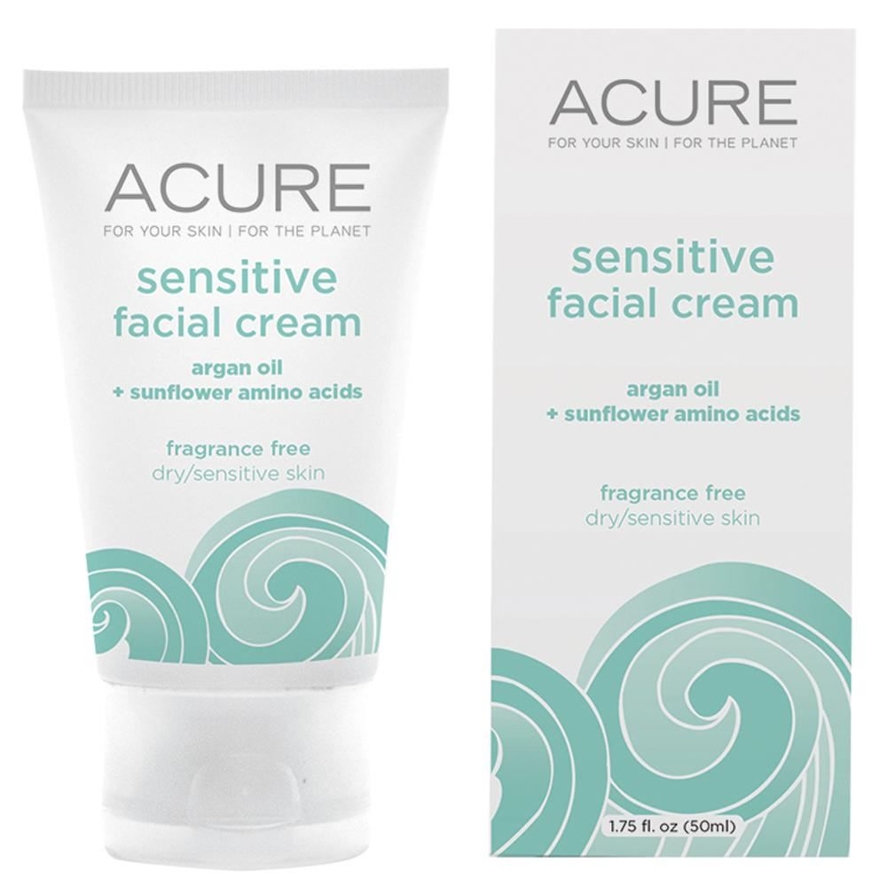 Acure Sensitive Facial Cream Argan Oil and Amino Acids 50ml