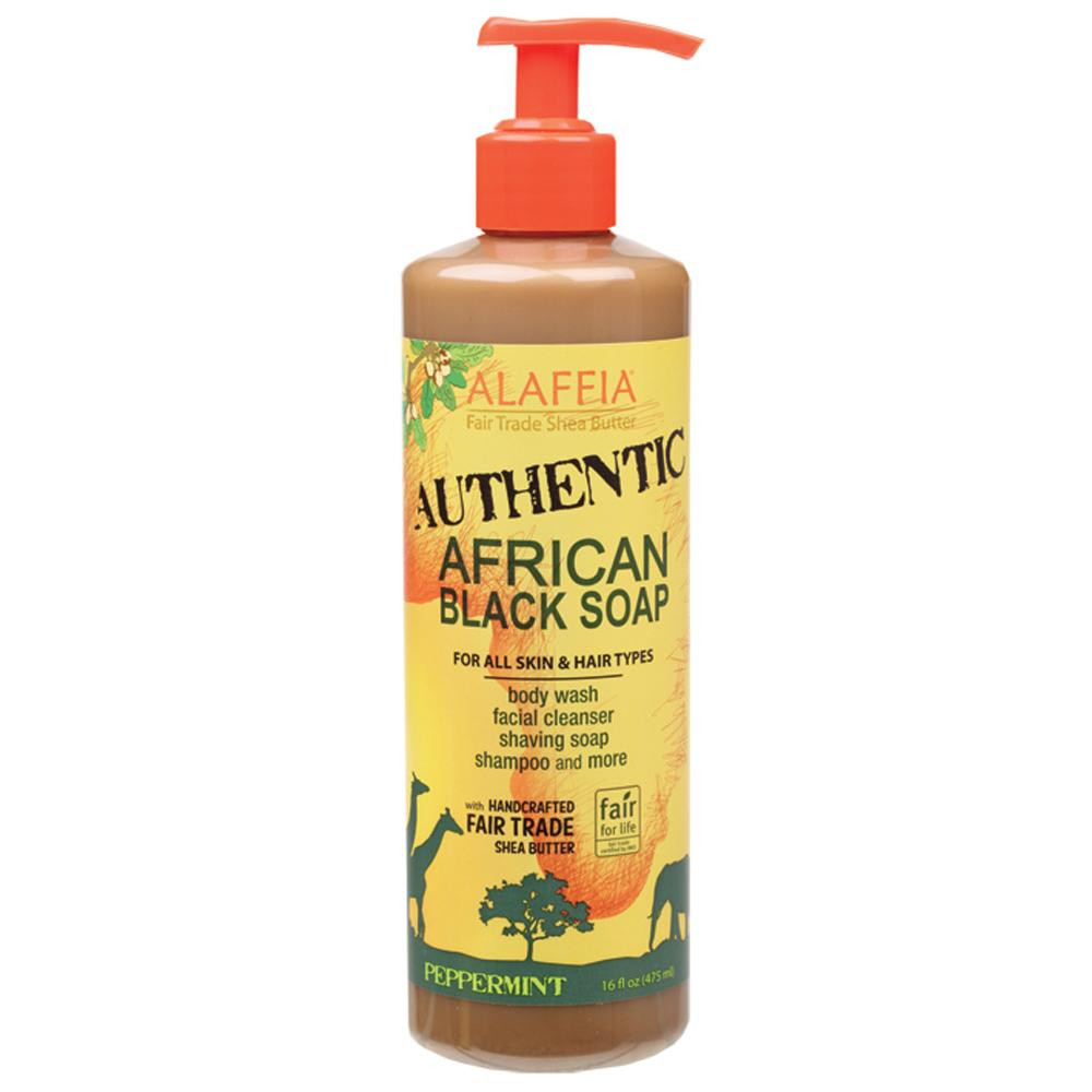 Alaffia African Black Soap Peppermint 475ml