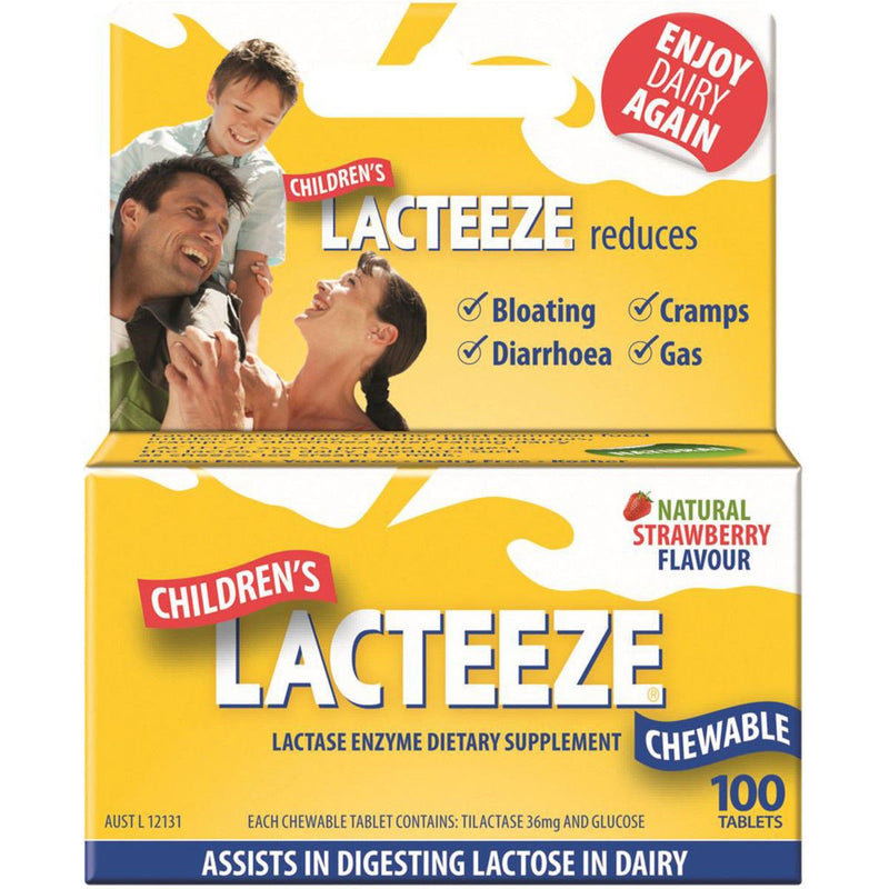 AllergyFree Lacteeze Children's Strength Chewable 100t