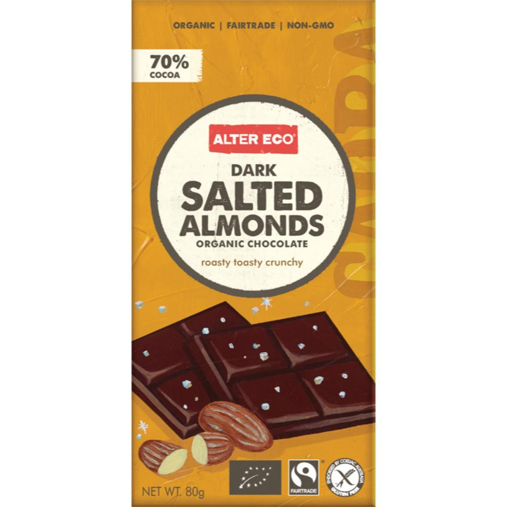 Alter Eco Chocolate (Organic) 80g Dark Salted Almonds