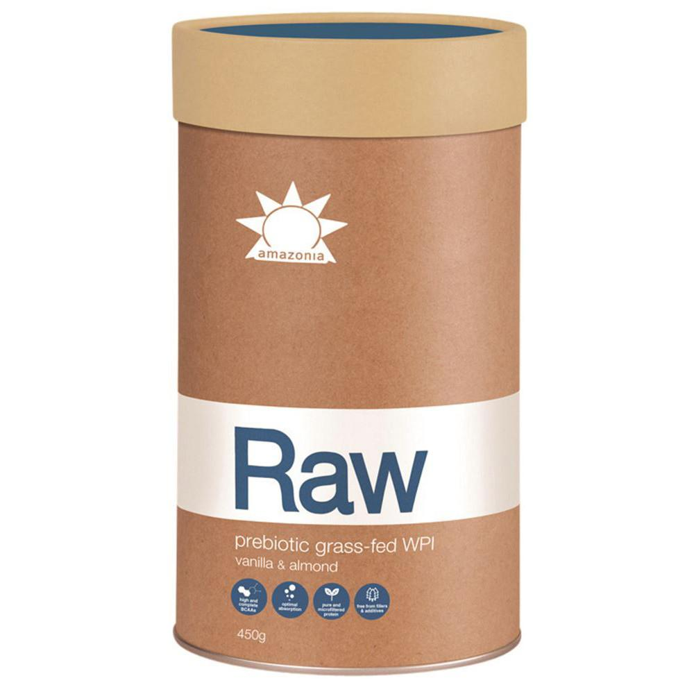 Amazonia Raw WPI Prebiotic Grass Fed Vanilla Almond 450g