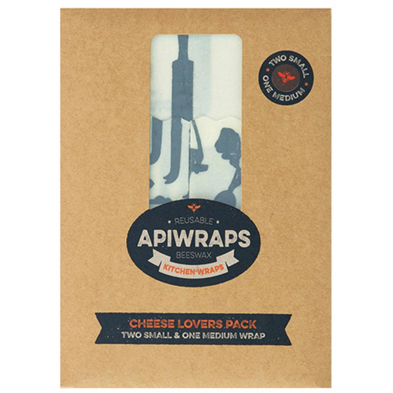 Apiwraps Reusable Beeswax Wraps Cheese Lover Set