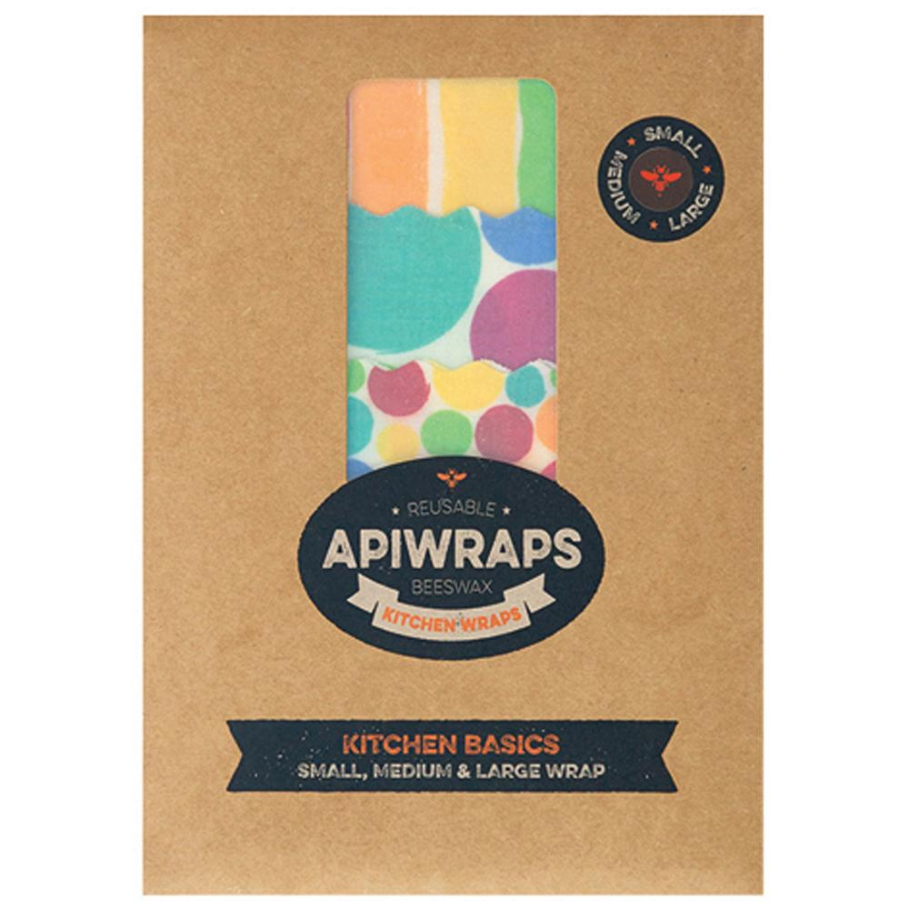 Apiwraps Reusable Beeswax Wraps Kitchen Basics Set