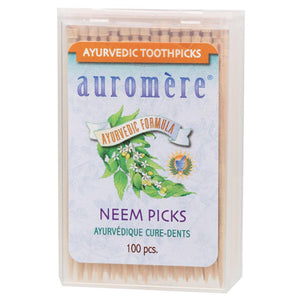 Auromere Toothpicks 100 Neem Picks (Peppermint)