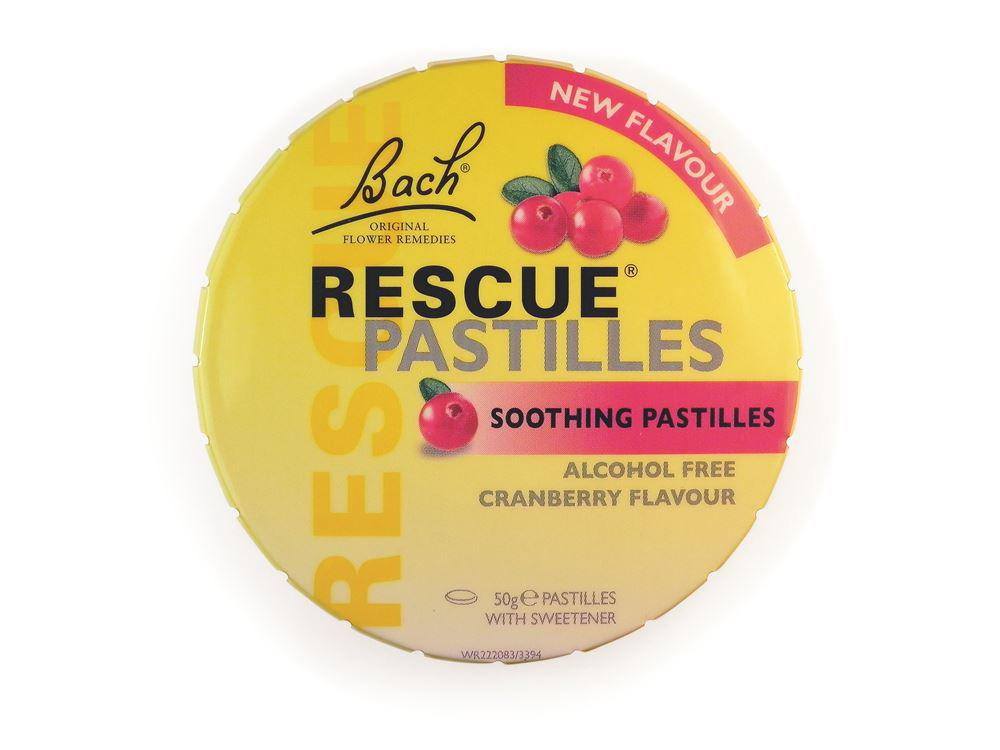 Bach Flower Remedies Rescue Pastilles Cranberry 50g