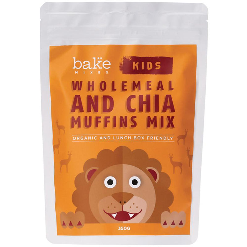 Bake Mixes Kids Wholemeal and Chia Muffins Mix 350g