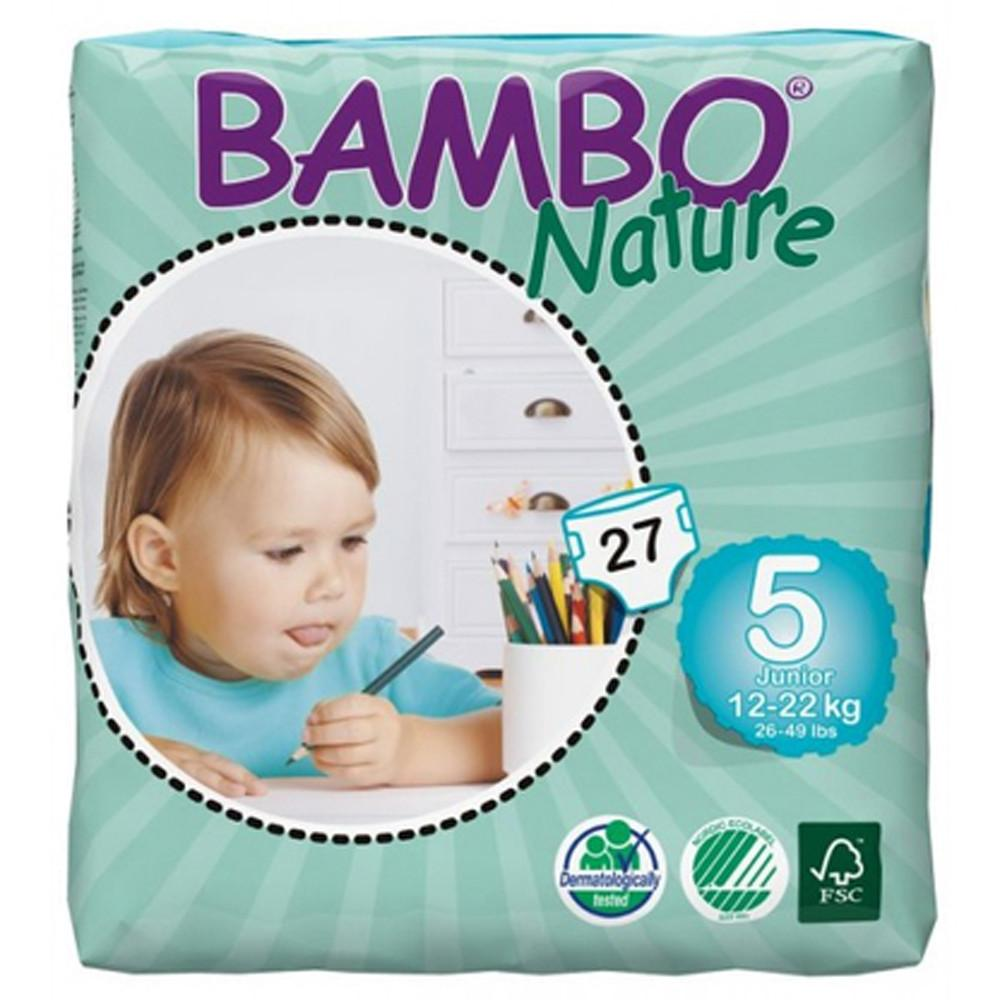 Bambo Nature Eco Disposable Junior Nappies 12 - 22kg (Size 5)