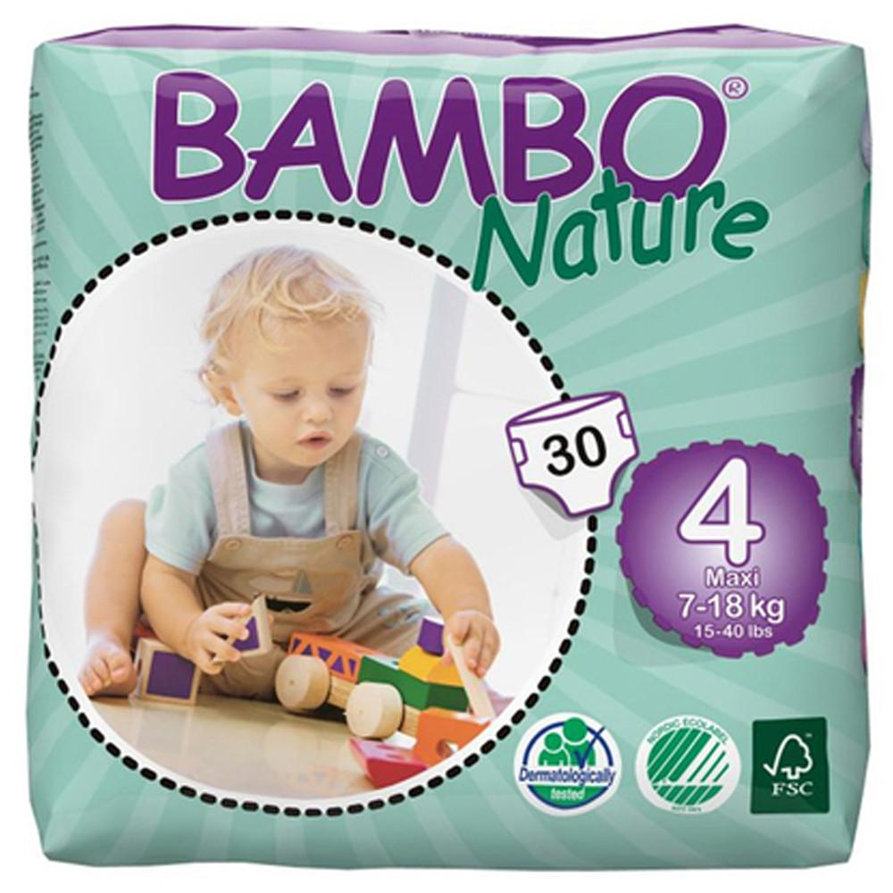 Bambo Nature Eco Disposable Maxi Nappies 7 - 18kg (Size 4)