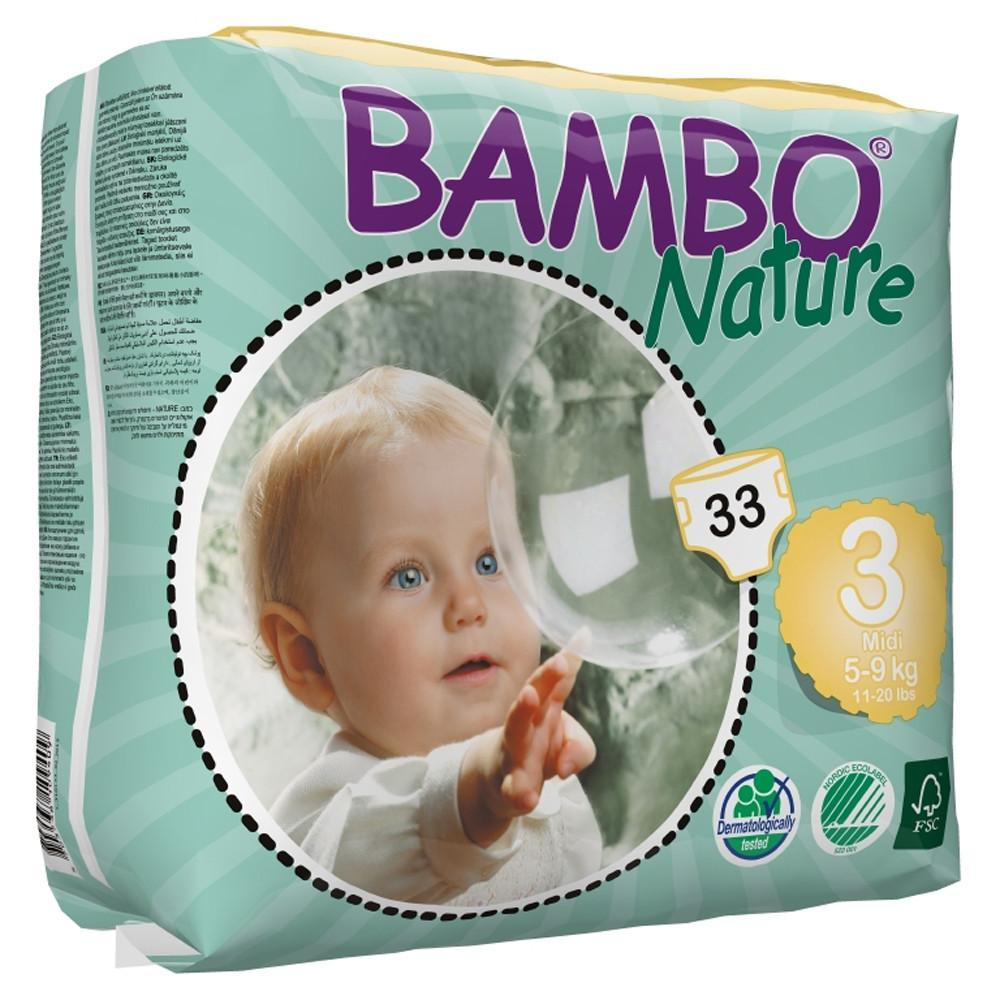 Bambo Nature Eco Disposable Midi Nappies 5 - 9kg (Size 3)