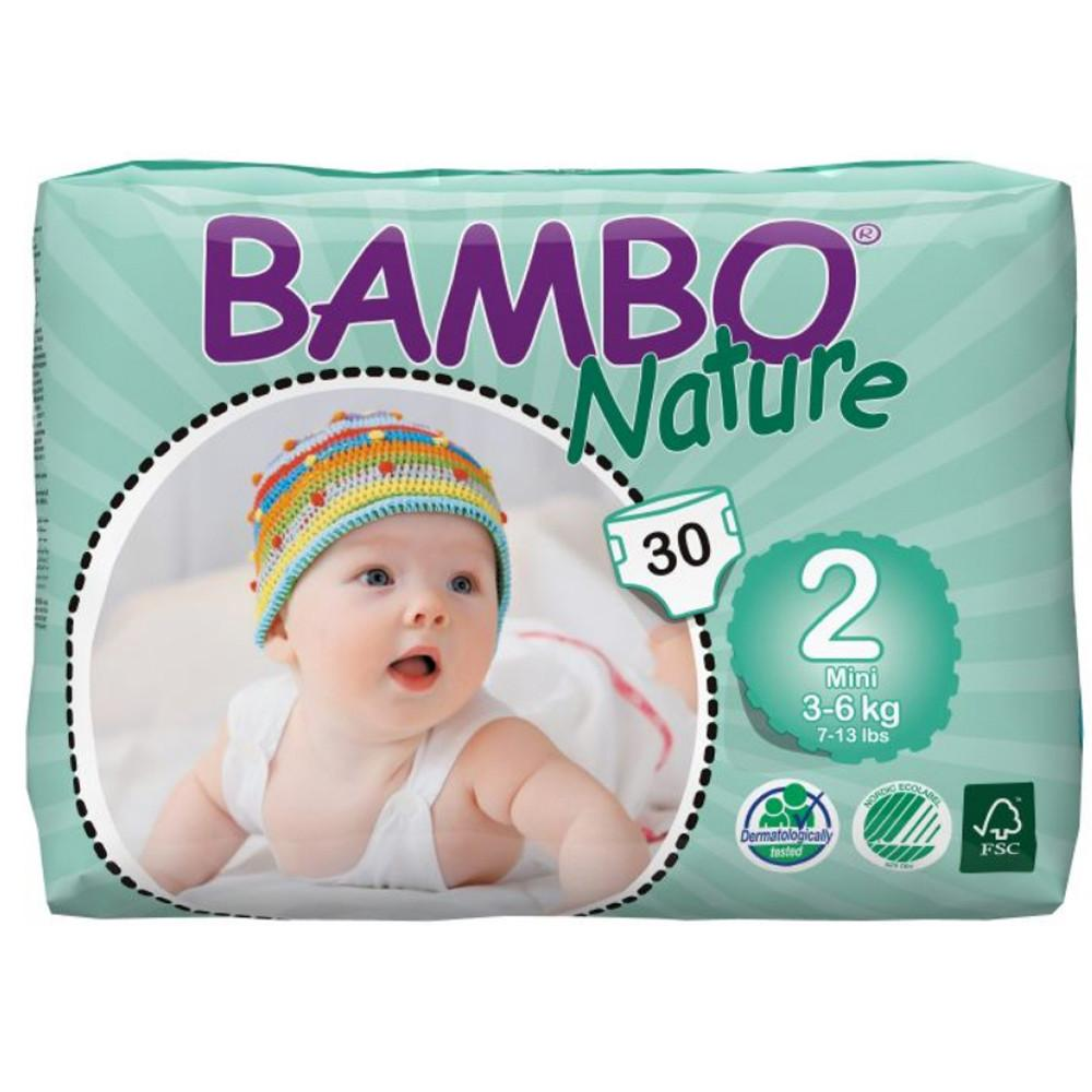 Bambo Nature Eco Disposable Mini Nappies 3 - 6kg (Size 2)