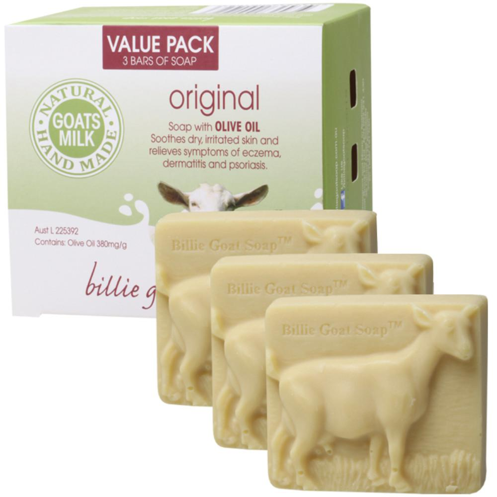 Billie Goat Soap Soap 3x100g Goat's Milk - Value Pack