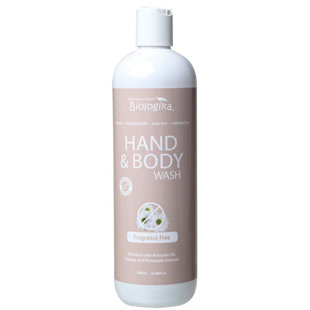Biologika Hand and Body Wash 500ml Fragrance Free