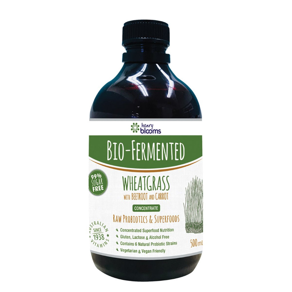 Blooms Bio Ferm Wheatgrass with Beetroot Carrot Concentrate 500ml