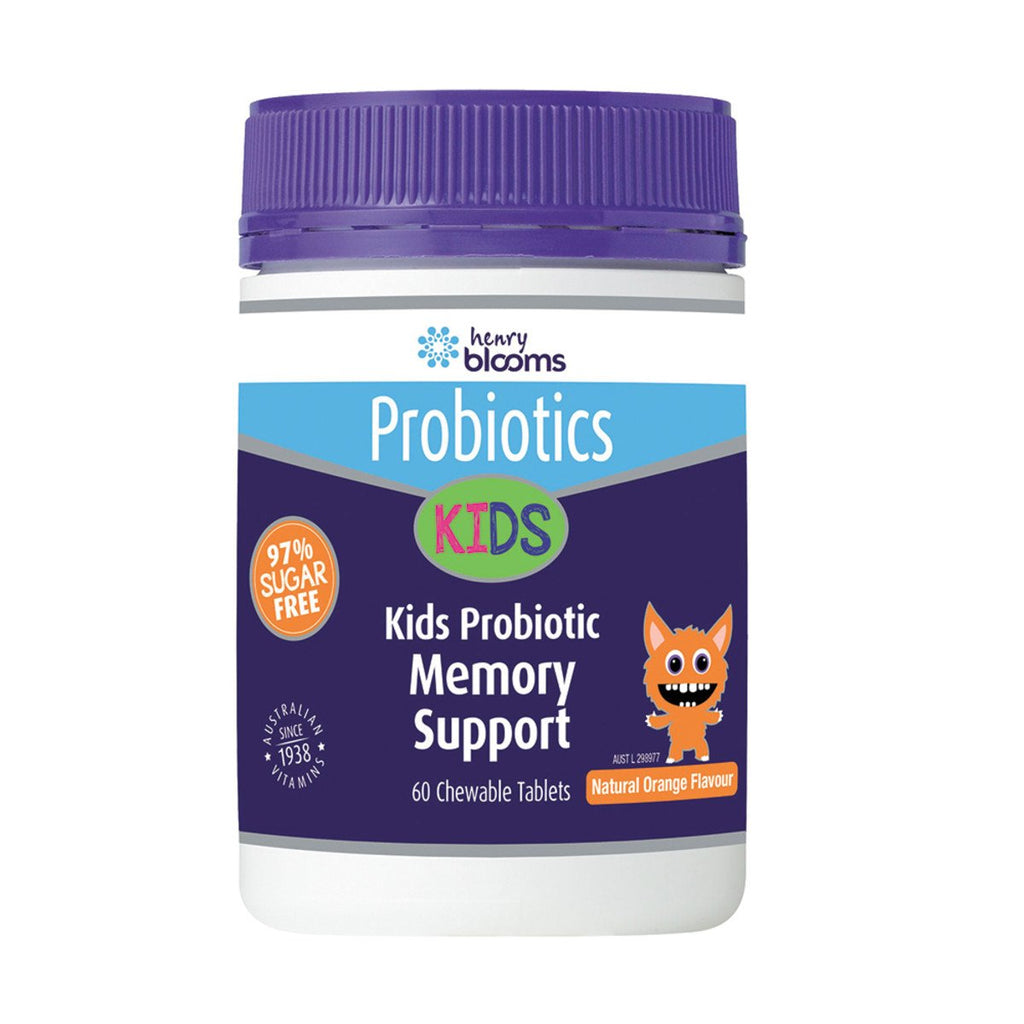 Blooms Kids Probiotic Memory Support Orange Chewable 60 Tablets