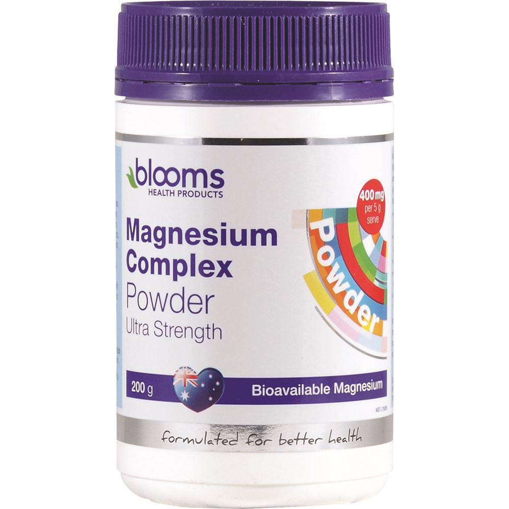 Blooms Magnesium Complex Ultra Strength Powder 200g