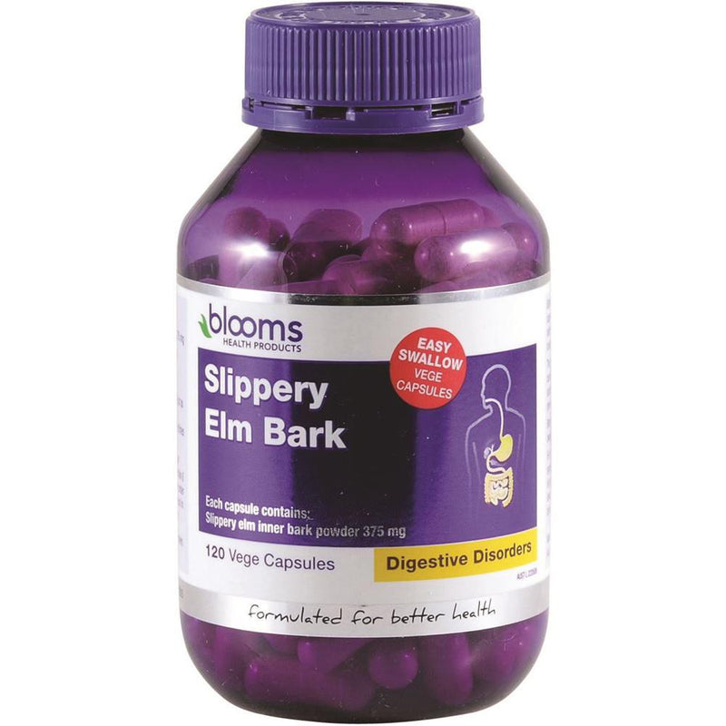 Blooms Slippery Elm Bark 375mg 120vc