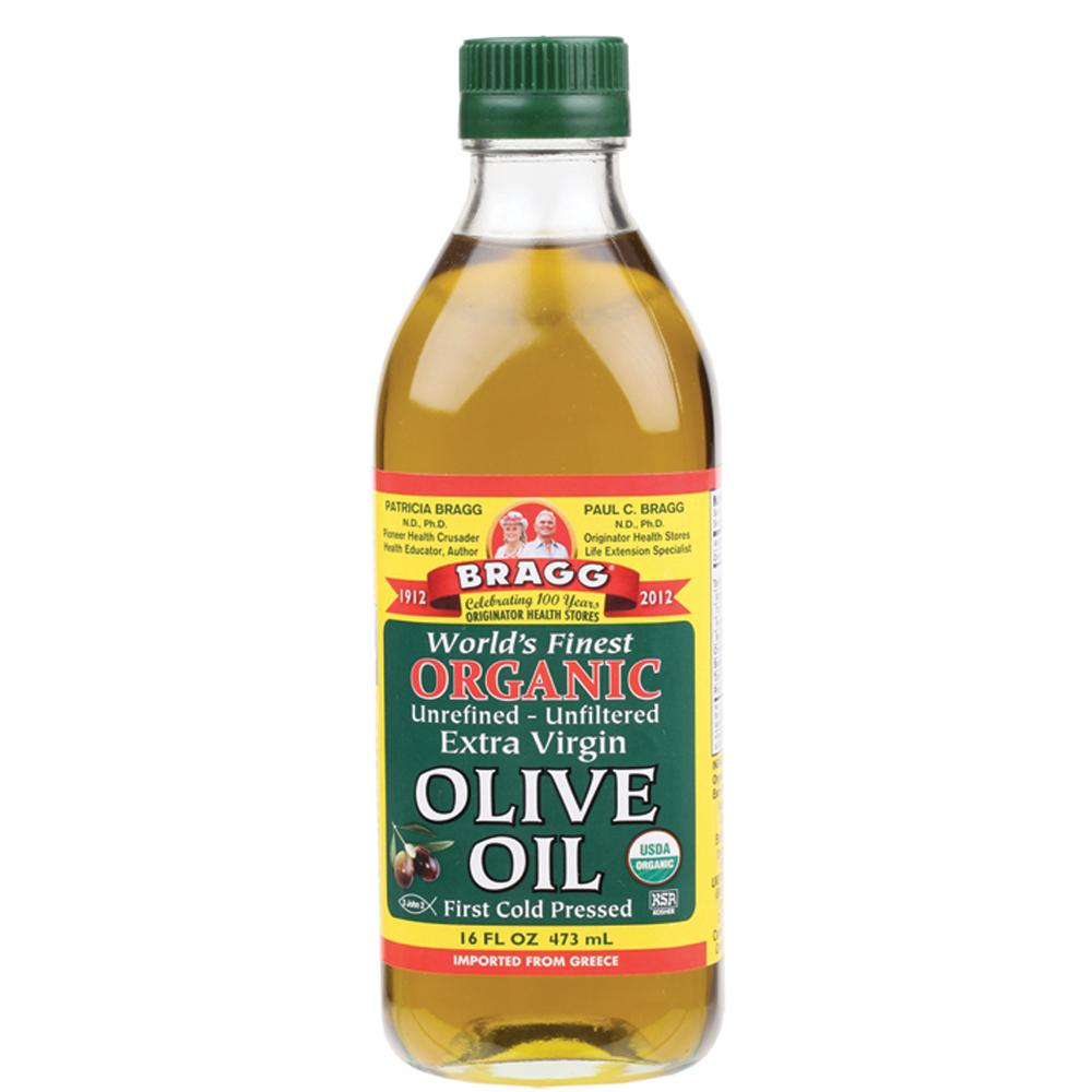 Bragg Olive Oil (Extra Virgin) 473ml Unrefined & Unfiltered