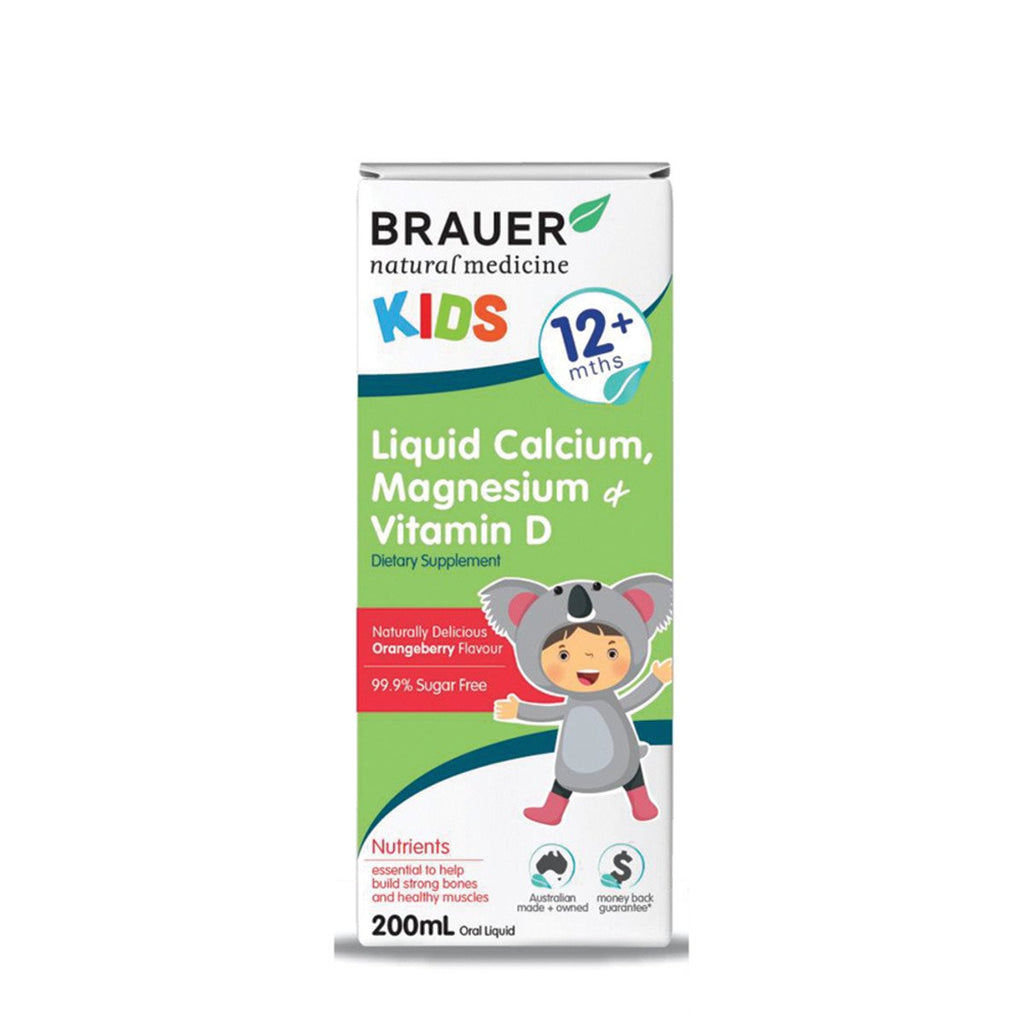 Brauer Kids Calcium Magnesium and Vitamin D Liquid 200ml